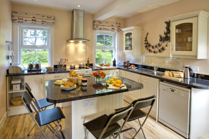 Kitchen, Beacons Cottage, Outchester & Ross Farm Cottages, Northumberland