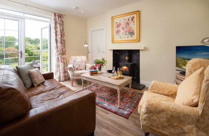 Sitting Room, The Beacons Cottage, Outchester & Ross Farm Cottages, Northumberland
