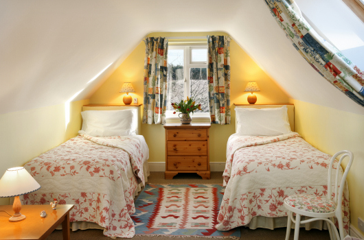 Twin Bedroom, Coastguard Lodge, Outchester & Ross Farm Cottages, Northumberland