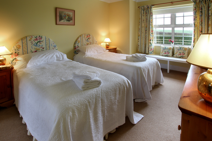 Twin Bedroom, Dovecot Cottage, Northumberland