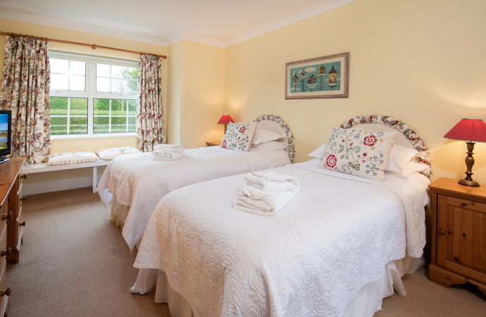 Twin Bedroom, Kittiwake Cottage, Northumberland
