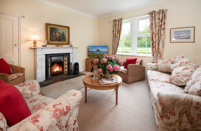 Sitting Room, Wagtail Cottage, Northumberland