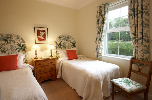 Twin Bedroom, Wagtail Cottage, Outchester & Ross Farm Cottages, Northumberland
